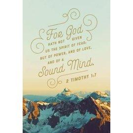 Bulletin - A Sound Mind (2 Timothy 1:7 KJV) (Pack Of 100)