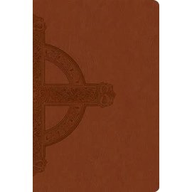NLT Large Print Bible, Sienna with Cross LeatherLike