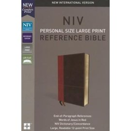 NIV Large Print Reference Bible, Tan/Brown Leathersoft