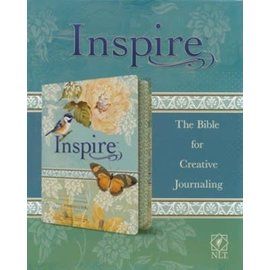 NLT Inspire Journaling Bible, Blue/Cream Imitation Leather