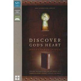 NIV Discover God's Heart Devotional Bible, Brown Imitation Leather
