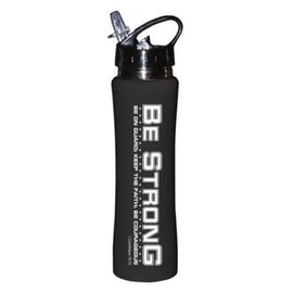 Water Bottle - Be Strong, Black Stainless Steel