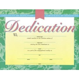 Certificate - Dedication, 6 pack