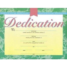 Certificate - Dedication, 6 pack