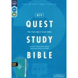 NIV Quest Study Bible, Teal Leathersoft, Indexed