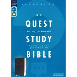 NIV Quest Study Bible, Black Leathersoft