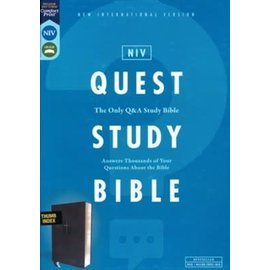 NIV, Quest Study Bible, Leathersoft, Black, Indexed, Comfort Print