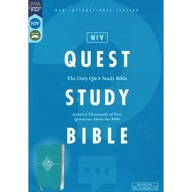 NIV Quest Study Bible, Teal Leathersoft