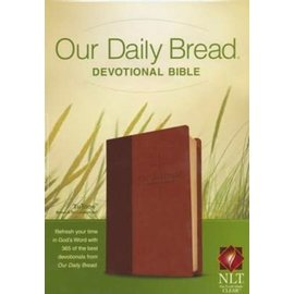 NLT Our Daily Bread Devotional Bible, Brown/Tan TuTone