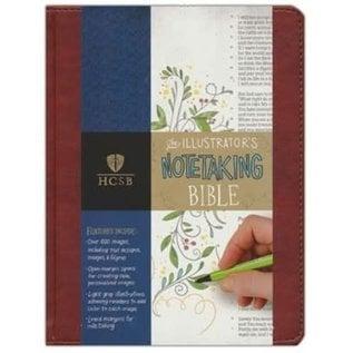 HCSB Illustrator's Notetaking Bible, Tan LeatherTouch