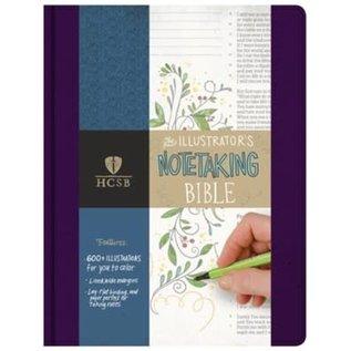 HCSB Illustrator's Notetaking Bible, Purple Linen LeatherTouch