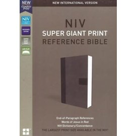 NIV Super Giant Print Reference Bible, Gray Leathersoft