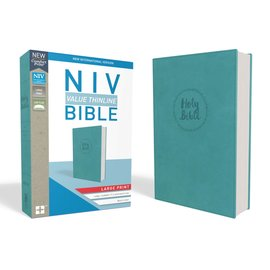 NIV Large Print Thinline Bible, Blue Leathersoft