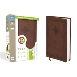 NIV Compact Teen Study Bible, Sienna Leathersoft