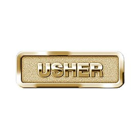 Brass Usher Badge, Magnetic