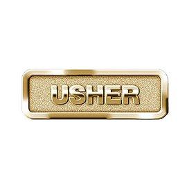 Brass Usher Badge, Magnetic