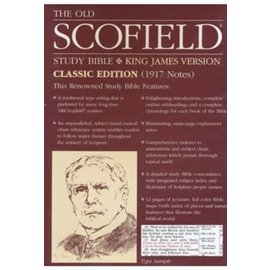KJV Scofield Study Bible, Black Bonded Leather, Indexed