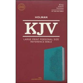 KJV Large Print Reference Bible, Teal LeatherTouch