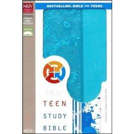 NKJV Teen Study Bible, Blue Leathersoft