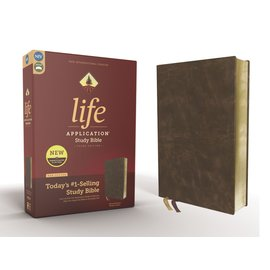 NIV Life Application Study Bible 3, Distressed Brown Bonded Leather, Red Letter