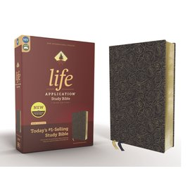 NIV Life Application Study Bible 3, Navy Floral Bonded Leather, Red Letter