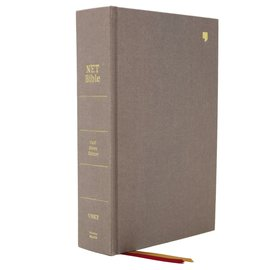 NET Bible, Full-notes Edition, Gray Cloth over Board