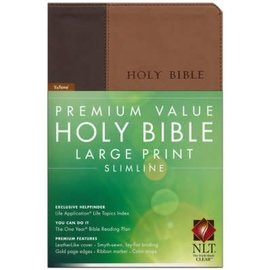 NLT Large Print Bible, Brown/Tan LeatherLike