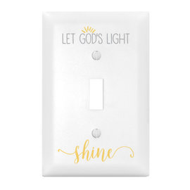 Light Switch Cover - Let God's Light Shine