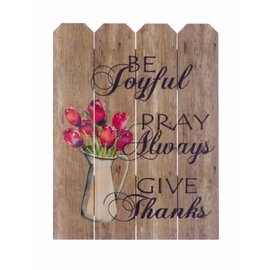 Wall Art - Be Joyful, Pray Always, Give Thanks, Pink