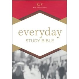 KJV Everyday Study Bible, Tan LeatherTouch