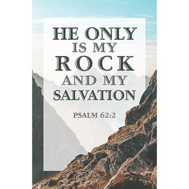 Bulletin - He is My Rock (Psalm 62:2 KJV) (Pack of 100)
