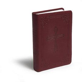NIV Compact Bible, Burgundy LeatherSoft