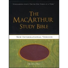NIV MacArthur Study Bible, Auburn/Black Leathersoft
