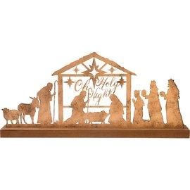 Oh Holy Night Nativity Scene, Gold