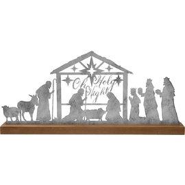 Oh Holy Night Nativity Scene, Silver