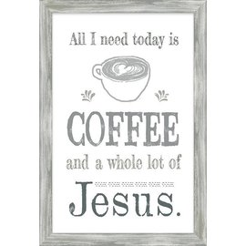 Wall Art - Coffee and Jesus, Framed