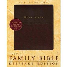 NIV Family Bible: Keepsake Edition, Burgundy Leathersoft