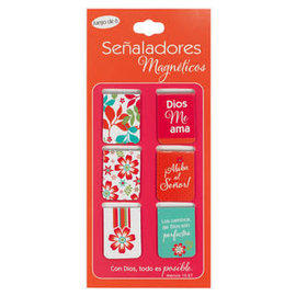 Magnetic Bookmark - Pink/Orange (Spanish)