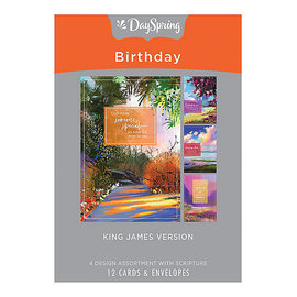 Boxed Cards - Birthday, Colorful Landscapes
