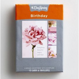 Boxed Cards - Birthday, Pretty Pinks