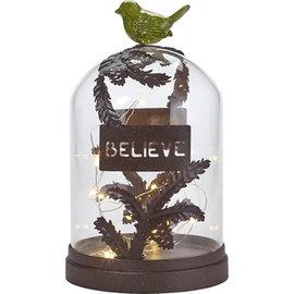 "Terrarium - Believe Decorative LED - Glass/Metal/Resin (10"" x 6"")"