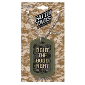 Faith Tag Necklace - Fight the Good Fight