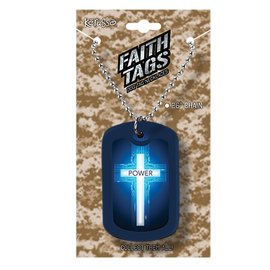 Faith Tag Necklace - Power of the Cross