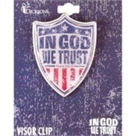 Visor Clip - In God We Trust
