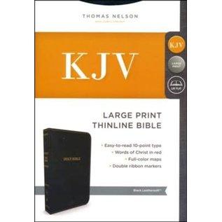 KJV Large Print Thinline Bible, Black Leathersoft