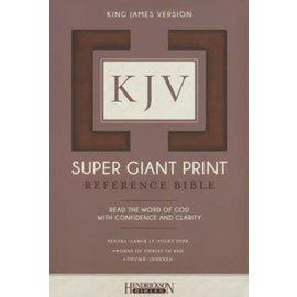 KJV Super Giant Print Reference Bible, Brown Flexisoft, Indexed