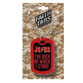 Faith Tag Necklace - Jesus Rock