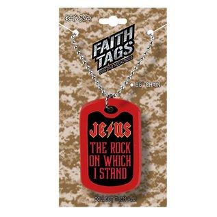 Faith Tag Necklace - Jesus Rock