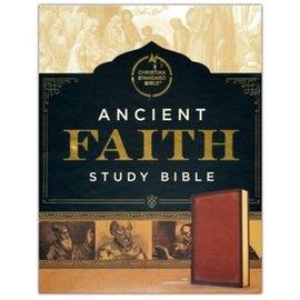 CSB Ancient Faith Study Bible, Tan LeatherTouch