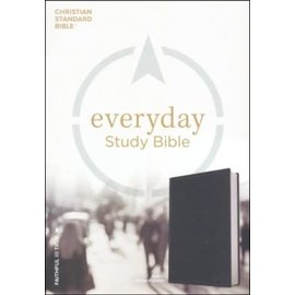 CSB Everyday Study Bible, Charcoal LeatherTouch